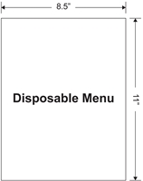 "Picture of Disposable Menu: 8.5"" x 11"""
