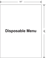 "Picture of Disposable Menu: 11"" x 14"""