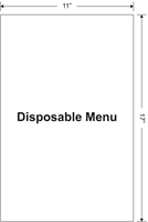"Picture of Disposable Menu: 11"" x 17"""